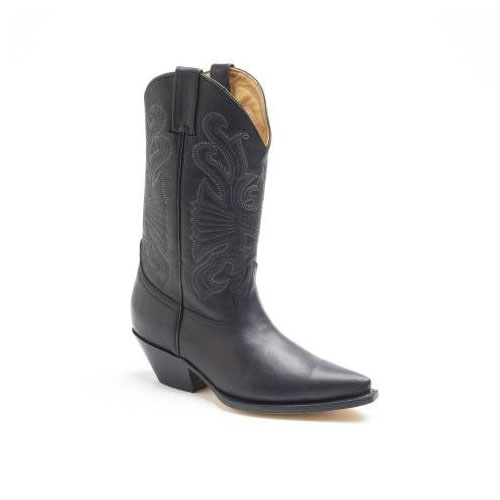 Buffalo Black Long Cowboy Boots.jpg