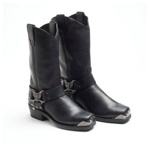 Grinder Long Black Eagle Style Cowboy Biker Boot.jpg