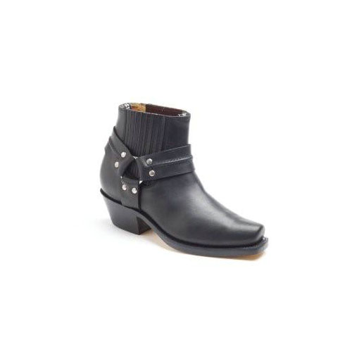 Harness Lo Black Leather Chisel Toe Cowboy Boot.jpg