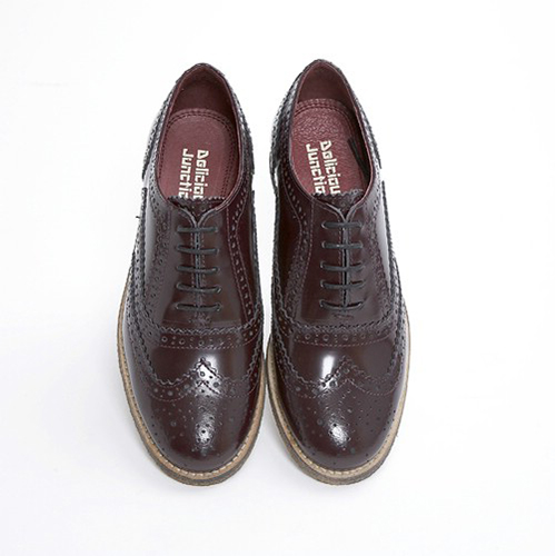 Ladies Brogue Shoes Burgandy.jpg