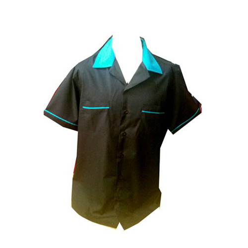 Skye Bowling Shirt Black with Turquoise Trim.jpg