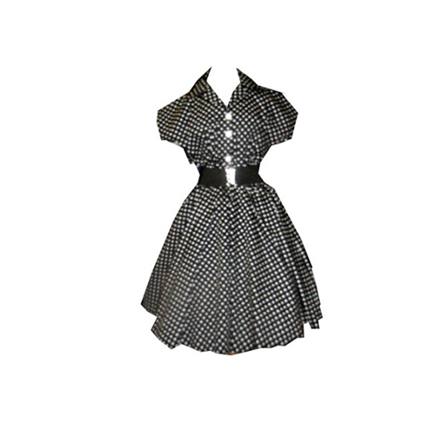 Skye Ladies Dress Black and White Spot9.jpg