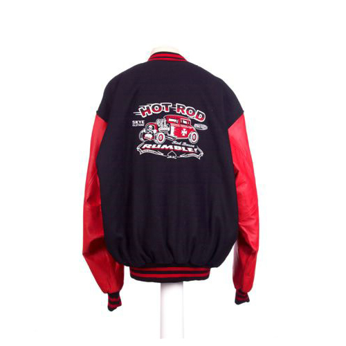 Vince Ray Skye Design 1 Baseball Jacket Black and Red.jpg