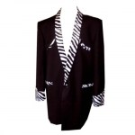 Skye Clothing Black Zebra Trim Drape Jacket.jpg