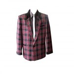 Skye Clothing Box Jacket Blue and Red Tartan.jpg